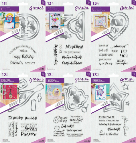 Gemini - Shaker Card - Stamp and Die Sets by Crafters Companion